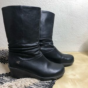 Keen Wedge MidCalf Winter Boot Black Leather
